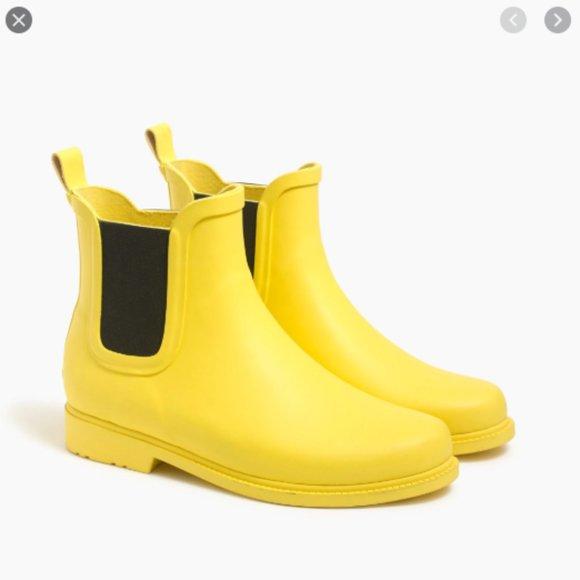 J. Crew Factory Shoes - J. Crew Factory Chelsea Rain Boots Yellow Black 10